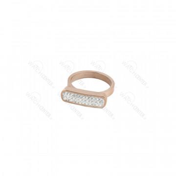انگشتر زنانه نگین سفید استیل رزگلد سایز حلقه انگشتر-سایز ۷