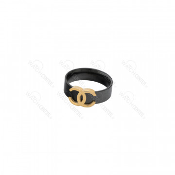 انگشتر زنانه استیل مشکی طلایی
