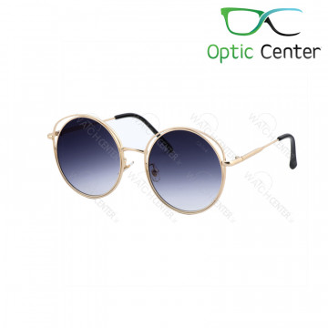 عینک آفتابی زنانه کلویی فلزی شیشه آبی