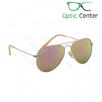 عینک آفتابی اسپرت ری بن فلزی آویاتور شیشه صورتی