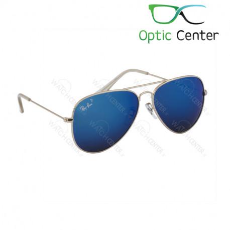 عینک آفتابی اسپرت ری بن فلزی آویاتور شیشه آبی