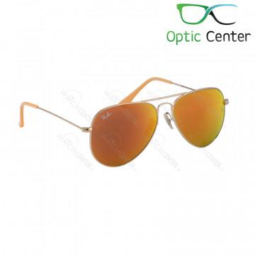 عینک آفتابی اسپرت ری بن فلزی آویاتور شیشه نارنجی