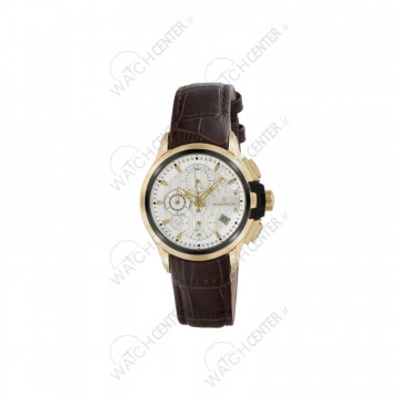 ساعت مردانه رومانسون چرمی قهوه ای صفحه سفید