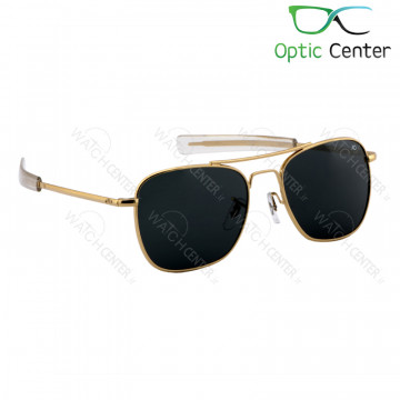عینک آفتابی مردانه امریکن اپتیک فلزی شیشه مشکی