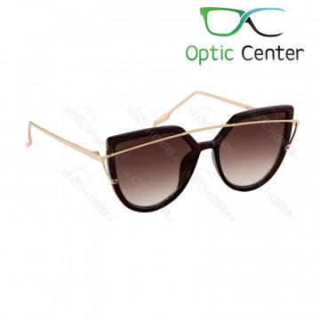 عینک آفتابی زنانه سرتینو فلزی شیشه قهوه ای