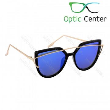 عینک آفتابی زنانه سرتینو فلزی شیشه آبی