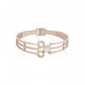 دستبند زنانه استیل بولگاری رزگلد سفید