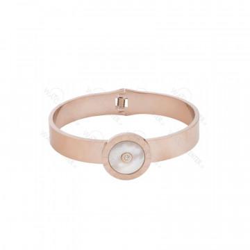 دستبند زنانه بولگاری استیل رزگلد
