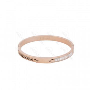 دستبند زنانه استیل رزگلد