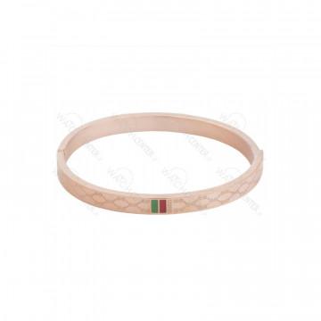 دستبند زنانه گوچی استیل رزگلد