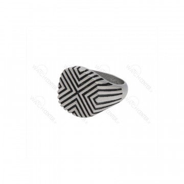 انگشتر مردانه استیل نقره ای مشکی