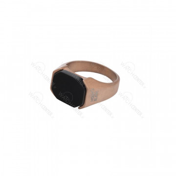 انگشتر مردانه مونت بلانک استیل رزگلد مشکی رنگ-رزگلد - مشکی سایز حلقه انگشتر-سایز ۱۱