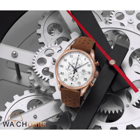 ساعت مردانه تگ هویر جیر قهوه ای صفحه سفید