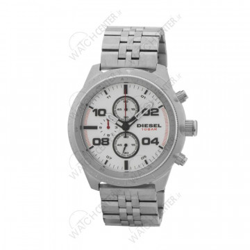 ساعت مردانه دیزل استیل نقره ای صفحه سفید