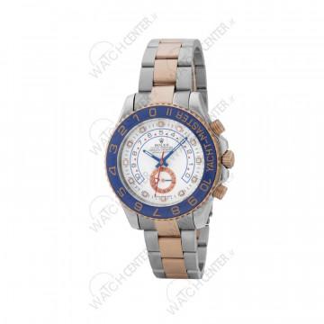 ساعت مردانه رولکس یاخ مستر استیل نقره ای رزگلد صفحه سفید