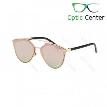 عینک آفتابی زنانه سرتینو فلزی شیشه صورتی