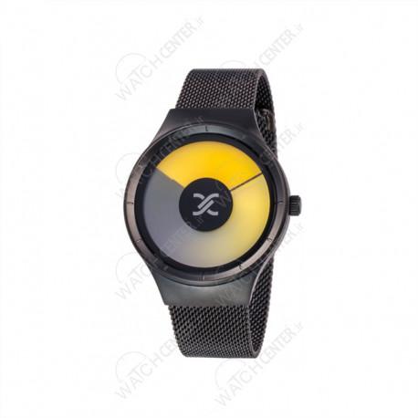 ساعت دنیل کلین حصیری مشکی صفحه زرد (DK11864-6)