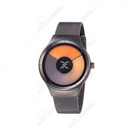 ساعت دنیل کلین حصیری مشکی صفحه نارنجی (DK11864-5)