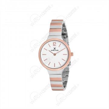 ساعت دنیل کلین زنانه فلزی نقره ای -رزگلد صفحه سفید(DK12062-3)