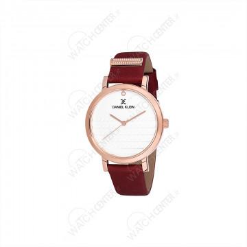 ساعت دنیل کلین زنانه چرمی قرمز-رزگلد صفحه سفید(DK12054-7)