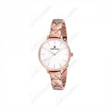 ساعت دنیل کلین زنانه رزگلد صفحه سفید(DK12041-2)