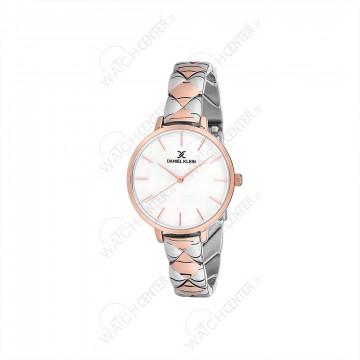 ساعت دنیل کلین زنانه نقره ای-رزگلد صفحه سفید(DK12041-4)