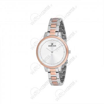 ساعت دنیل کلین زنانه فلزی نقره ای -رزگلد صفحه سفید (DK12053-4)