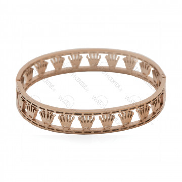 دستبند زنانه رولکس استیل رزگلد (79)