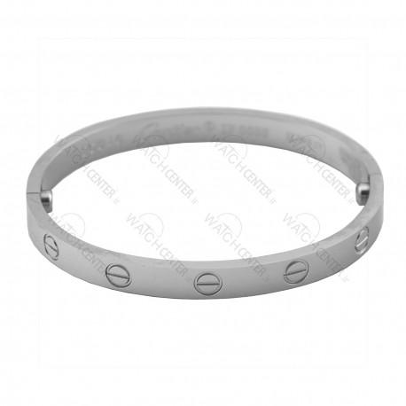 دستبند زنانه کارتیر استیل نقره ای (78)