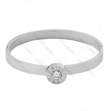 دستبند زنانه استیل نقره ای (75)