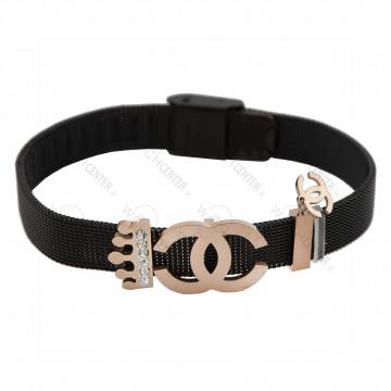 دستبند زنانه چنل حصیری مشکی (71)