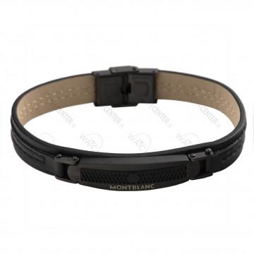 دستبند مردانه مونت بلانک چرمی مشکی (68)