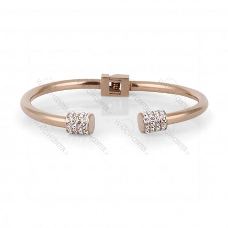 دستبند زنانه دنیل کلین فلزی رزگلد نگینی (DKB.2010.03)