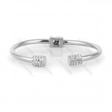 دستبند زنانه دنیل کلین فلزی نقره ای نگینی (DKB.2010.01)