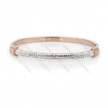 دستبند زنانه دنیل کلین فلزی رزگلد نگینی (DKB.2009.03)