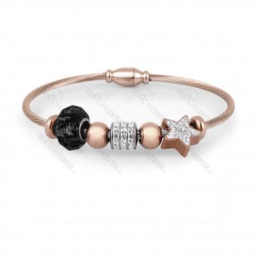 دستبند زنانه دنیل کلین فلزی رزگلد نگینی (DKB.2004.03)