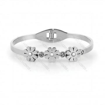 دستبند زنانه دنیل کلین فلزی نقره ای (DKB.2002.01)