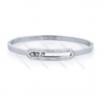 دستبند زنانه دنیل کلین فلزی نقره ای نگینی (DKB.2001.01)