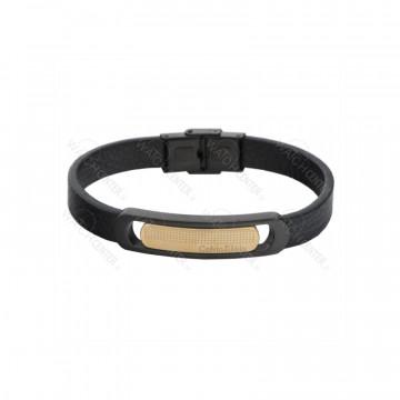 دستبند چرمی مردانه کلوین کلین استیل رزگلد