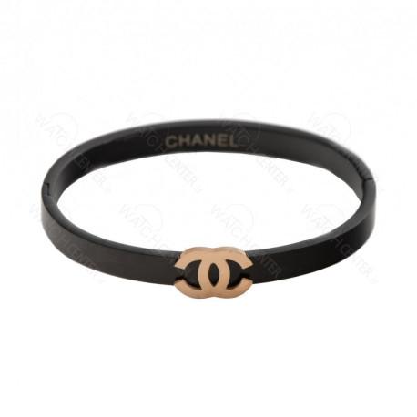 دستبند زنانه چنل استیل مشکی (78)