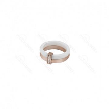 انگشتر زنانه استیل رزگلد سفید نگین دار رنگ-رزگلد - سفید سایز حلقه انگشتر-سایز ۷