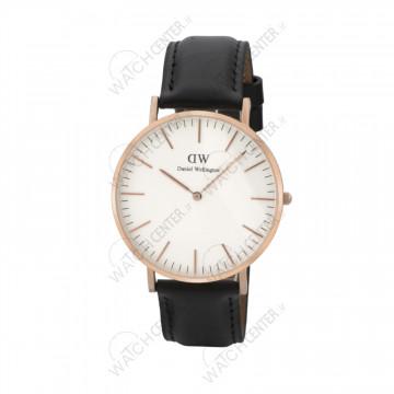 ساعت مردانه دنیل ولینگتون چرمی مشکی صفحه سفید