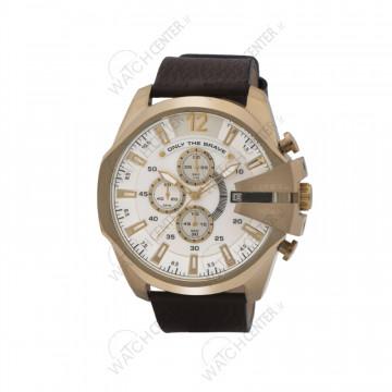 ساعت مردانه دیزل چرمی قهوه ای صفحه سفید