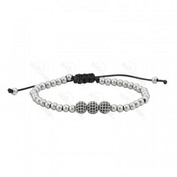 دستبند حدید زنانه نقره ای
