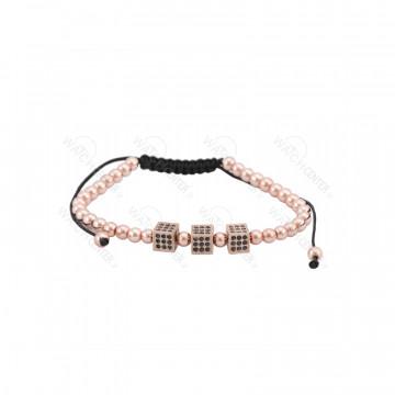 دستبند حدید زنانه رزگلد