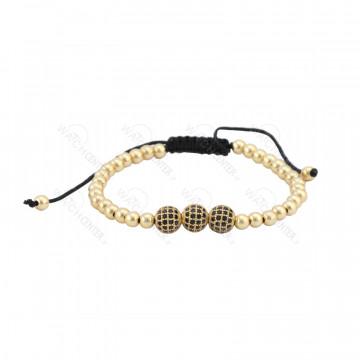 دستبند حدید زنانه سواروسکی طلایی