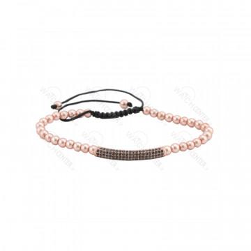 دستبند حدید زنانه سواروسکی رزگلد رنگ-رزگلد