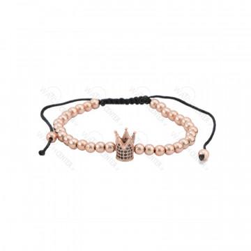 دستبند حدید زنانه سواروسکی رزگلد