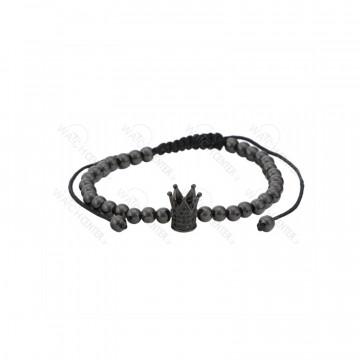 دستبند حدید زنانه سواروسکی مشکی