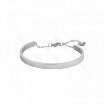 دستبند زنانه استیل نقره ای